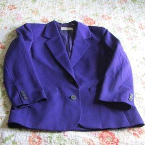 Vintage Liz Claiborne Purple Wool Blazer, 10P